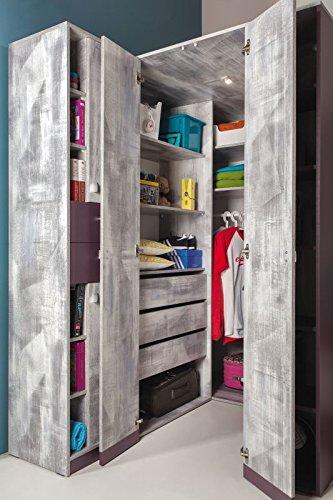Eckkleiderschrank jugendzimmer  Eckkleiderschrank Jugendzimmer: Amazon.de: Baumarkt