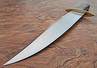Matt Easton - Custom Handmade Hi Carbon Steel 15.00 Inches Hunting Knife - Beautiful Rose Wood Handle (REG -1118)