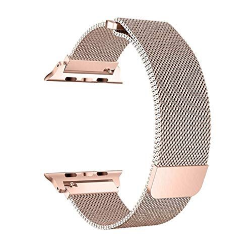 OROBAY Compatible with Apple Watch Band 38mm 40mm, Stainless Steel Milanese Loop with Magnetic Closure Replacement Band Compatible with Apple Watch Series 4 Series 3 Series 2 Series 1, Champagne Gold