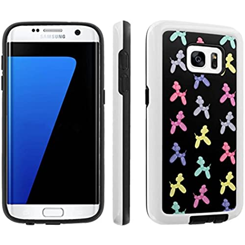 [Galaxy S7] [5.1 Screen] Armor Case [Skinguardz] [White/Black] Shock Absorbent Hybrid - [Black Balloon Dog] for Samsung Galaxy S7 / GS7 Sales