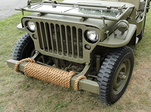 WWII-style Military Jeep Manila Rope 24 ft.