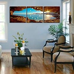 LightInTheBox Modern Scenic Analog Wall Clock in Canvas Set of 3 Home D¨¦cor Clocks (20x20)
