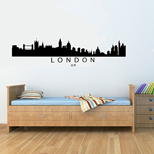 amazon com london uk city skyline vinyl wall decals quotes sayings