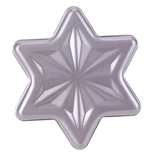 VANNGROUP - Gold Non-Stick Snowflake Six Pointed Star Cheese Cake Tools Stainless Steel Cake Pan Bread Baking Moold Bakeware Cake Tin Tray – 1 Pcs