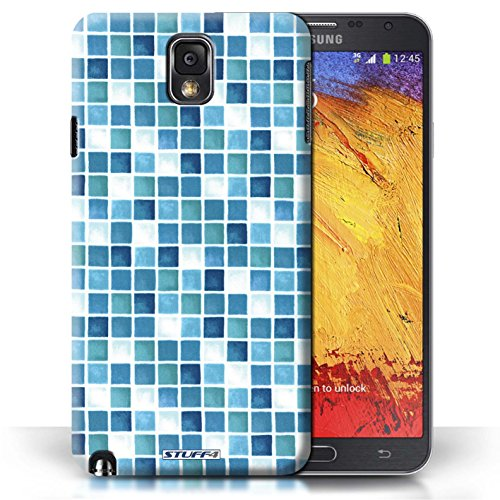 Etui / Coque pour Samsung Galaxy Note 3 / Bleu/Turquoise conception / Collection de Carreau Bain