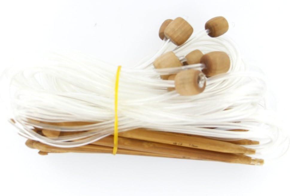 Juego de Ganchos de Ganchillo de bamb/ú de 12 Piezas Hechos a Mano con Agujas de Tejer 3-10 mm para Tejido de Hilado Artesanal por TheBigThumb