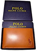 Polo Ralph Lauren Genuine Burnished Leather Passcase Wallet