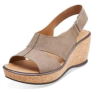 Amazon Com Clarks Rosemund Dune Women S Taupe Leather
