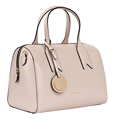 Donna Leather Handle Pink Handbag Emporio Twin Armani Nero qSwx1atf