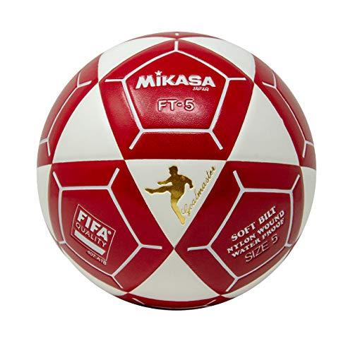 (Mikasa FT5 Goal Master Soccer Ball, White/Red, Size 5)