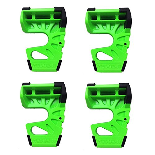 Wedge-It - The Ultimate Door Stop - Green (4 Pack) by Wedge-It