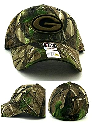 Reebok Green Bay Packers Realtree Camo Structured Hat Adjustable by Reebok