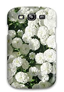 Durable Protector Case Cover With White Flowers Hot Design For Galaxy S3