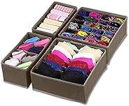 SimpleHouseware Closet Underwear Organizer Drawer Divider Set of 4