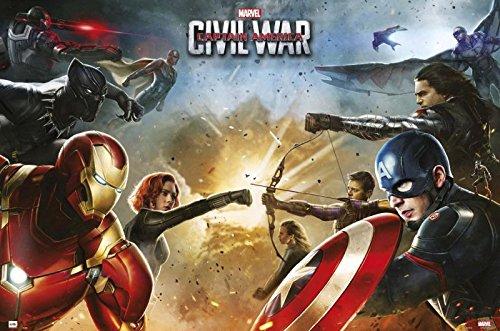 Captain America 3: Civil War - Marvel Movie Poster / Print Face Off -