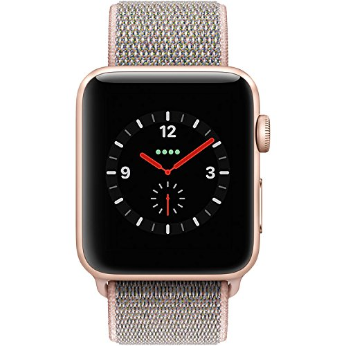 Cheap Apple Watch Series 3 – GPS+Cellular – Gold Aluminum Case with Pink Sand Sport Loop – 42mm