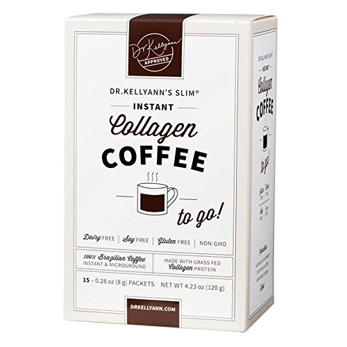 Keto Coffee Packets to Go - Instant Brazilian Collagen Coffee by Bone Broth Expert Dr. Kellyann - 100% Grass-Fed Collagen Powder - Perfect for Keto, Paleo & Weight Loss Diets -