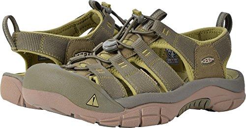 KEEN Men's Newport h2-m Sandal, Dark Olive/Green Moss, 9.5 M US (Newport Nylon Sandals)