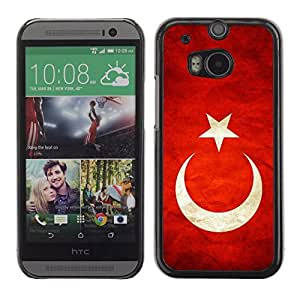 Shell-Star ( National Flag Series-Turkey ) Snap On Hard Protective Case For All New HTC One (M8)