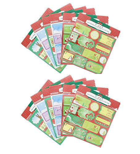 Gift Tags 432 Count Self-Stick 12 Assorted Designs by Regent Products