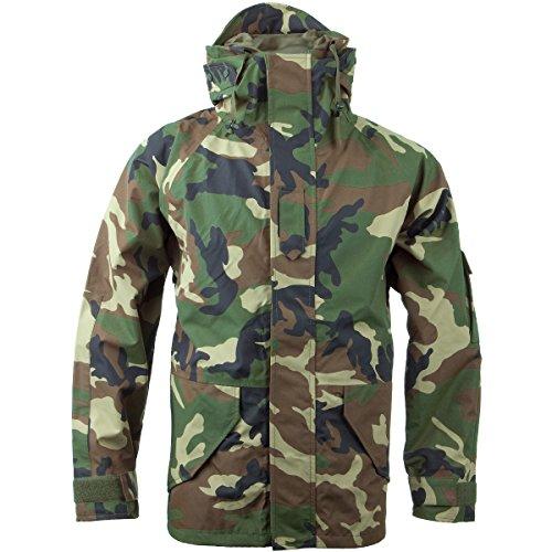 Woodland Nylon Parka - Mil-Tec Men's Wet Weather Trilaminate Jacket Woodland Size L