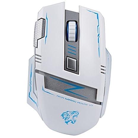 V5, Inalámbrico, recargable Gaming Mouse óptico Silencioso ordenador portátil de ratones con NANO receptor