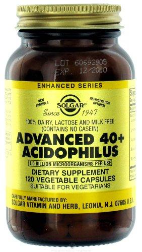 Solgar - 40 + Acidophilus avancée, 1,5 milliard, 120 veggie caps [Santé et Beauté]