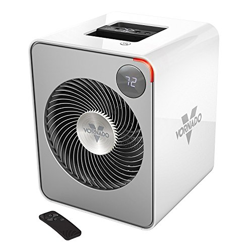 Vornado VMH500 Whole Room Metal Heater with Auto Climate, 2 Heat Settings, Adjustable Thermostat, 1-12 Hour Timer, and Remote, Ice White Portable Vornado