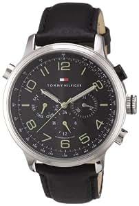Tommy Hilfiger Watches 1790768 - Reloj de caballero de cuarzo, correa de piel color negro