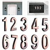 10 Pack 2-3/4'(Pack 0 to 9, Bronze) self Adhesive Door House Numbers and Street Address Plaques Numbers for Residence and Mailbox Signs. (2-3/4' 10 Pack (0-9), Bronze)