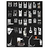 adjustable zipper foot kenmore - Renashed Professional 32 Pcs Domestic Sewing Presser Foot Kit Presser Walking Foot Kit For Brother, Singer, Babylock, Janome, Pfaff, Kenmore, Riccar, Necchi And Low Shank Sewing Machines