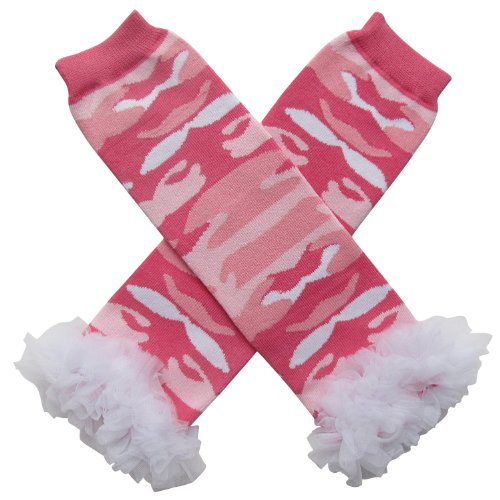 Camo Camouflage Leg Warmers - One Size - Baby, Toddler, Little Girl or Boy (Chiffon Tutu Ruffle Pink (Camouflage Ruffle)