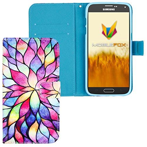 Mobilefox Flower Flip Case Handytasche Samsung Galaxy S5 mini