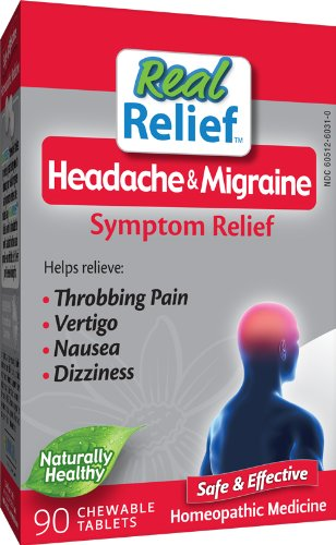 Homeolab USA Migraine Relief Tablets, 90 Chewable Tablets