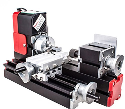 T-king(TM) DIY DC Miniature Metal Multifunction Lathe Machine Mini lathe For DIY Model Making 12V 20000Rev/min by T-king