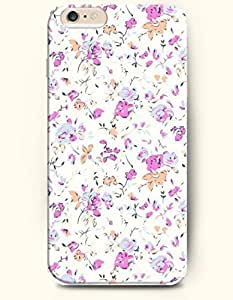 iPhone 6 Plus Case 5.5 Inches Simple Elegant Flowers - Hard Back Plastic Case OOFIT Authentic Kimberly Kurzendoerfer