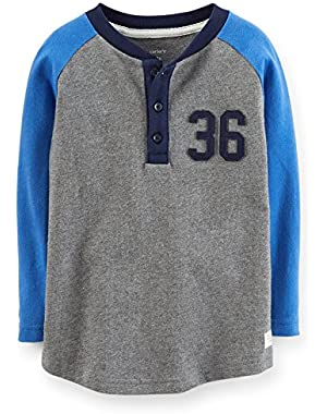 Boy's Blue/Grey Jersey Baseball Tee (3 Months)