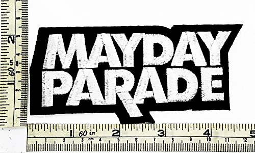 Black White MAYDAY PARADE Rock Music Band Patch Embroidered Iron on Hat Jacket Hoodie Backpack Ideal for Gift