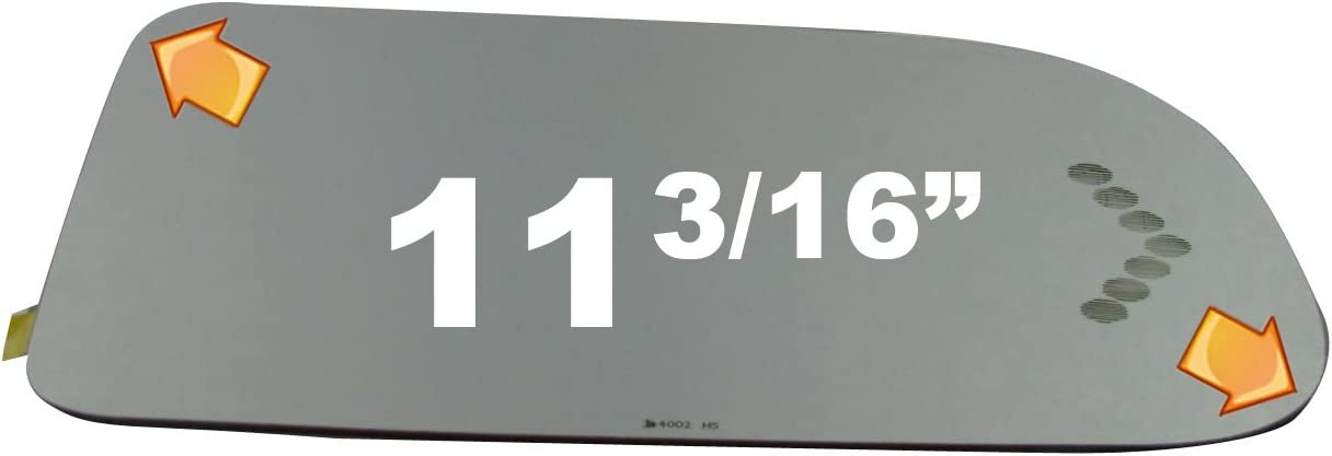 03-07 Silverado Sierra 1500 2500 3500 Right Passenger Replacement Mirror Glass Lens For Power Telescoping Type Mirrors w Heat /& Etched Signal use existing LED
