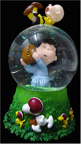 Peanuts Lucy and Charlie Brown Football Snow Globe ()