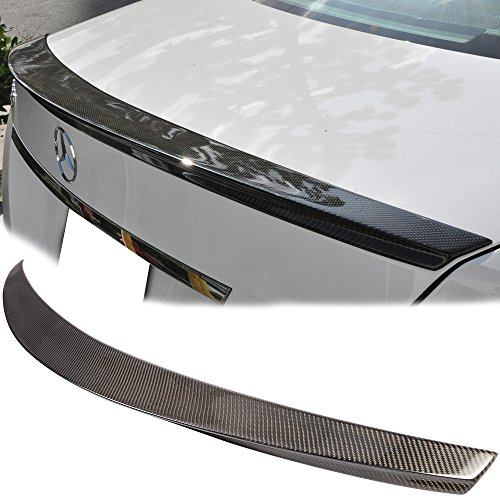 Trunk Spoiler Fits 2008-2014 Mercedes Benz C-Class W204   D Style Carbon Fiber(CF) Finisher Rear Tail lid Deck Boot Wing by IKON MOTORSPORTS   2009 2010 2011 2012 2013