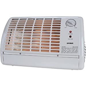 Optimus H-2210 Portable Fan Forced Radiant Heater with Thermostat