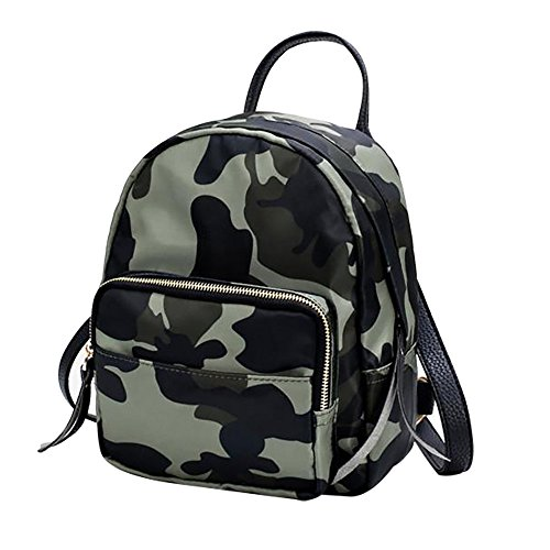 ALIKEEY Nylon Waterproof Backpack Fashion Backpack Women Small Travel Bag Small Lightweight Bags & Backpacks For Boys and Girls Women and Men Camouflage
