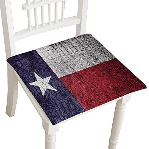 (HuaWuhome Chair Pads Classic Design Texas State Flag on Luxury Crocodile Texture Cotton Canvas Futon 32