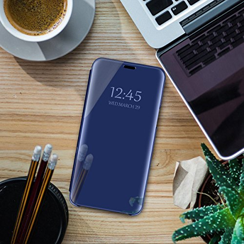 8 Grip Blu Hard Sottile Clear per Custodia Antiurto note8 Scratch View ltra Samsung Note specchietto Anti Cover per Galaxy Custodia Standing Mobile Eccellente gPHWw7qxBI