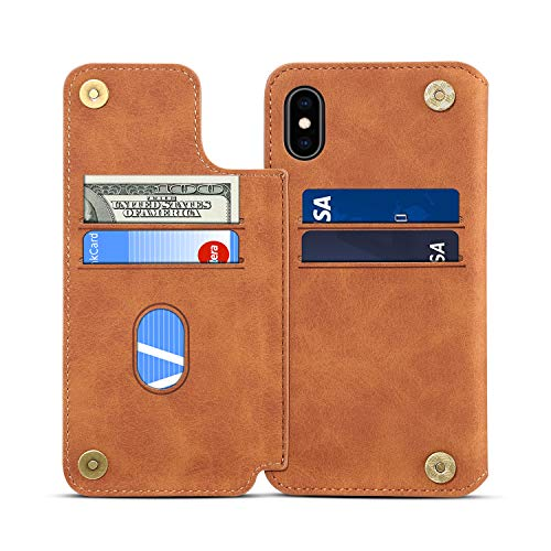 Xs Gift Card (SUTENI iPhone Xs Max Wallet Case, iPhone Xs Max Credit Card Slot Holder Case, Leather Magnetic Closure [Stand Feature] Wallet Flip Case for iPhone Xs Max with Gift Box Package)