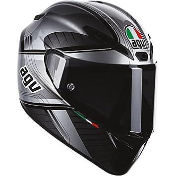 AGV GT-Veloce GTX - Casco integral para moto (negro/plata, tamaño