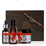 The Man Company Rakhi Awesome Beard Combo Gift Set (Almond & Thyme Beard Oil, 30ml with Beard Wash, 100ml and Beard Wax, 50g)
