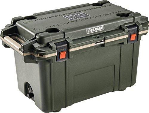 Pelican Elite 70 Quart Cooler (Green/Tan) (Tech Ice Maker)