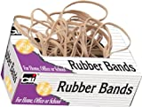 Charles Leonard Rubber Bands, Tissue-style Box, #16, Beige (56116)